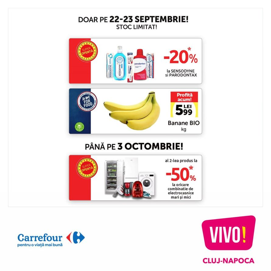 Carrefour: Promotions | Special Offers | VIVO! Cluj-Napoca
