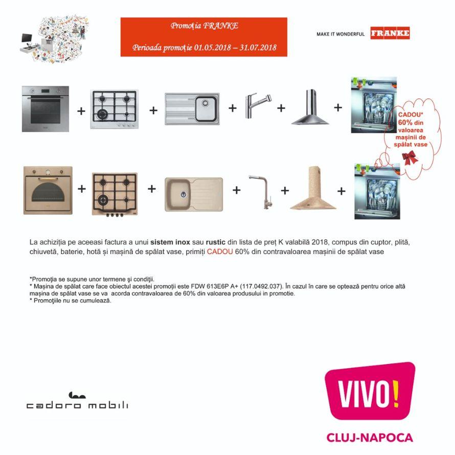 Cadoro Mobili; Promotion Franke | Special Offers | VIVO! Cluj-Napoca